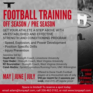 Torque Performance and Fitness - Sports Camps and Programs